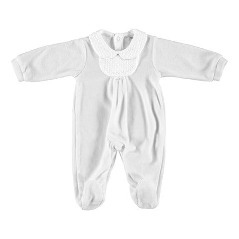 Babidu Textured Collar Sleepsuit Grey