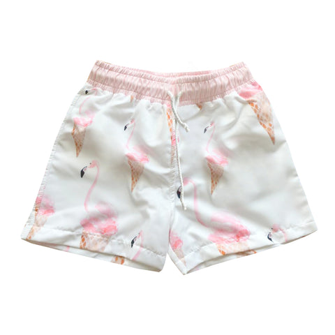 Meia Pata Flamingo Ice Cream Swim Shorts