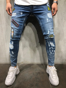 Patched Jeans Skinny Fit 4108