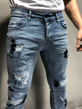 Ripped&Repaired Jeans Random Patches 4227