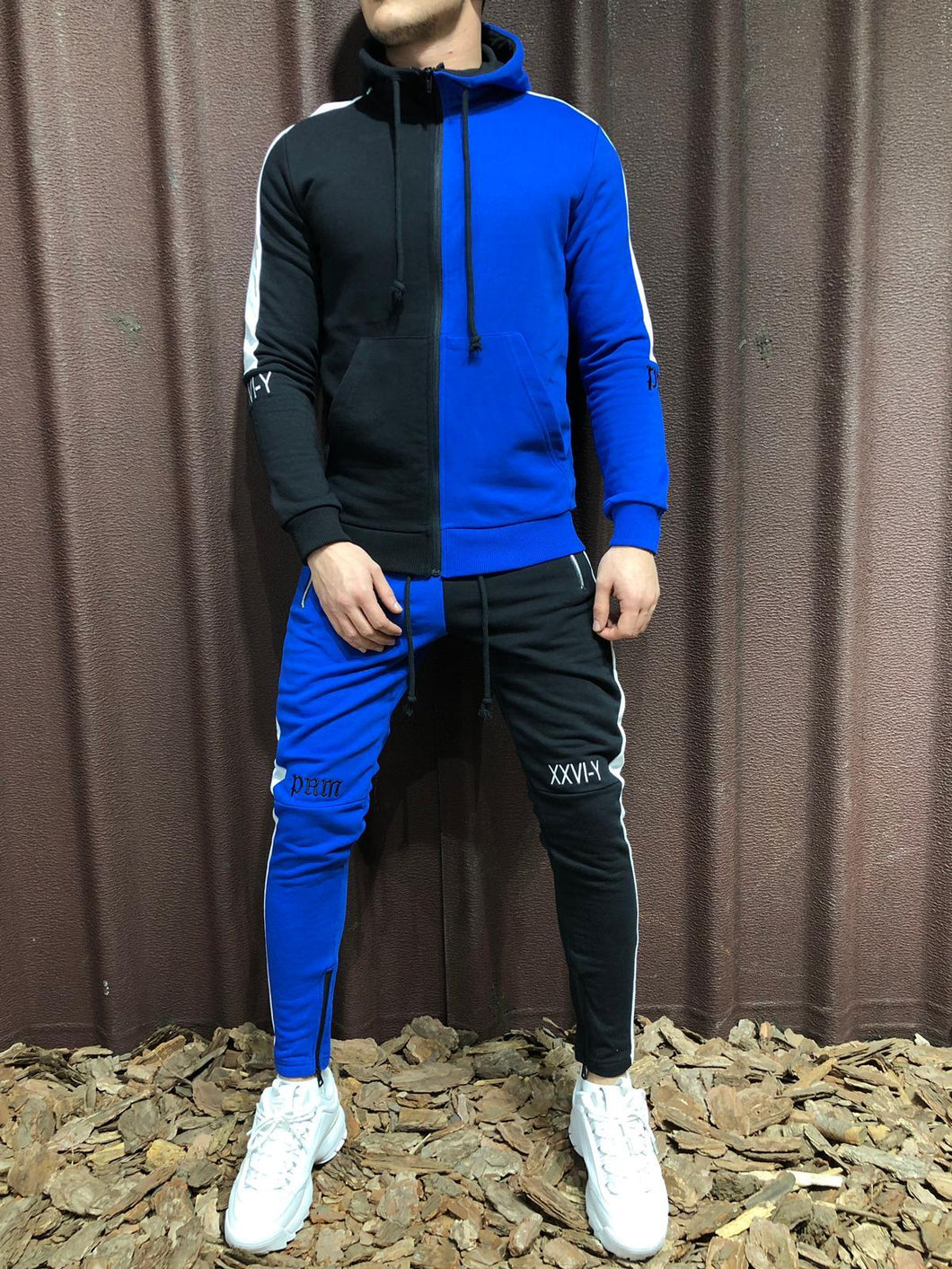 Color Block Tracksuit 100% Cotton 4245