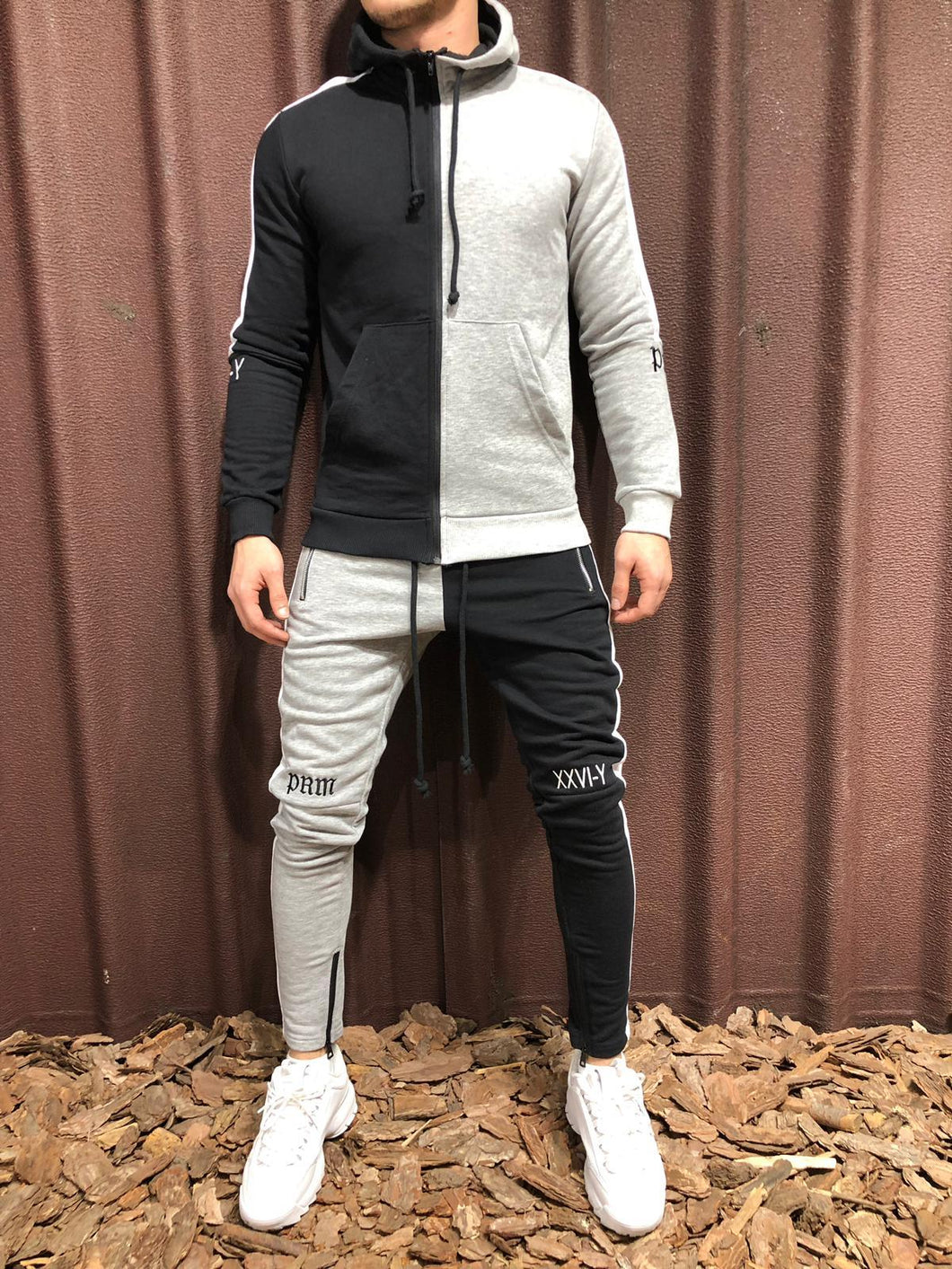 Color Block Tracksuit 100% Cotton 4248