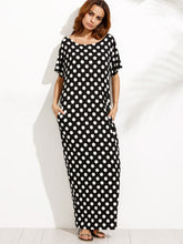 Polka Dot Pocket Maxi Dress