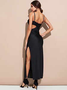 Cutout Maxi Cami Dress