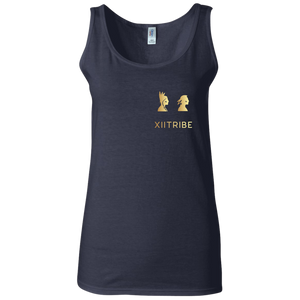 Navy Blue XIItribe Ladie's Fitted Tank
