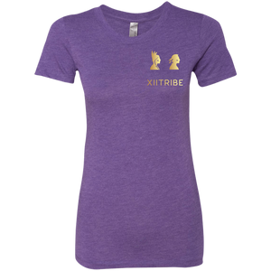 Purple XIITribe Ladie's Triblend T-Shirt