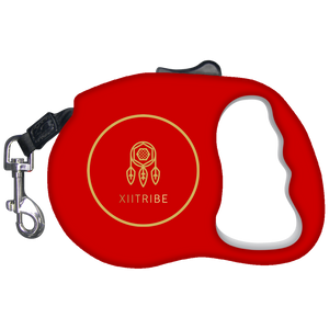 Marron Red XIITribe Retractable Dog Leash