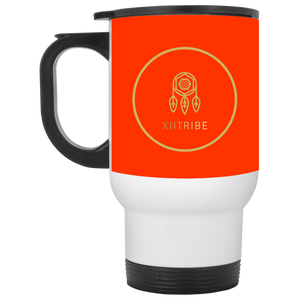White XIItribe Travel Mug