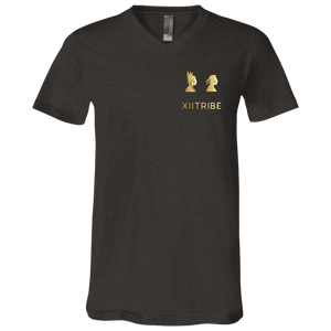 Black XIItribe Men's V-Neck T-Shirt