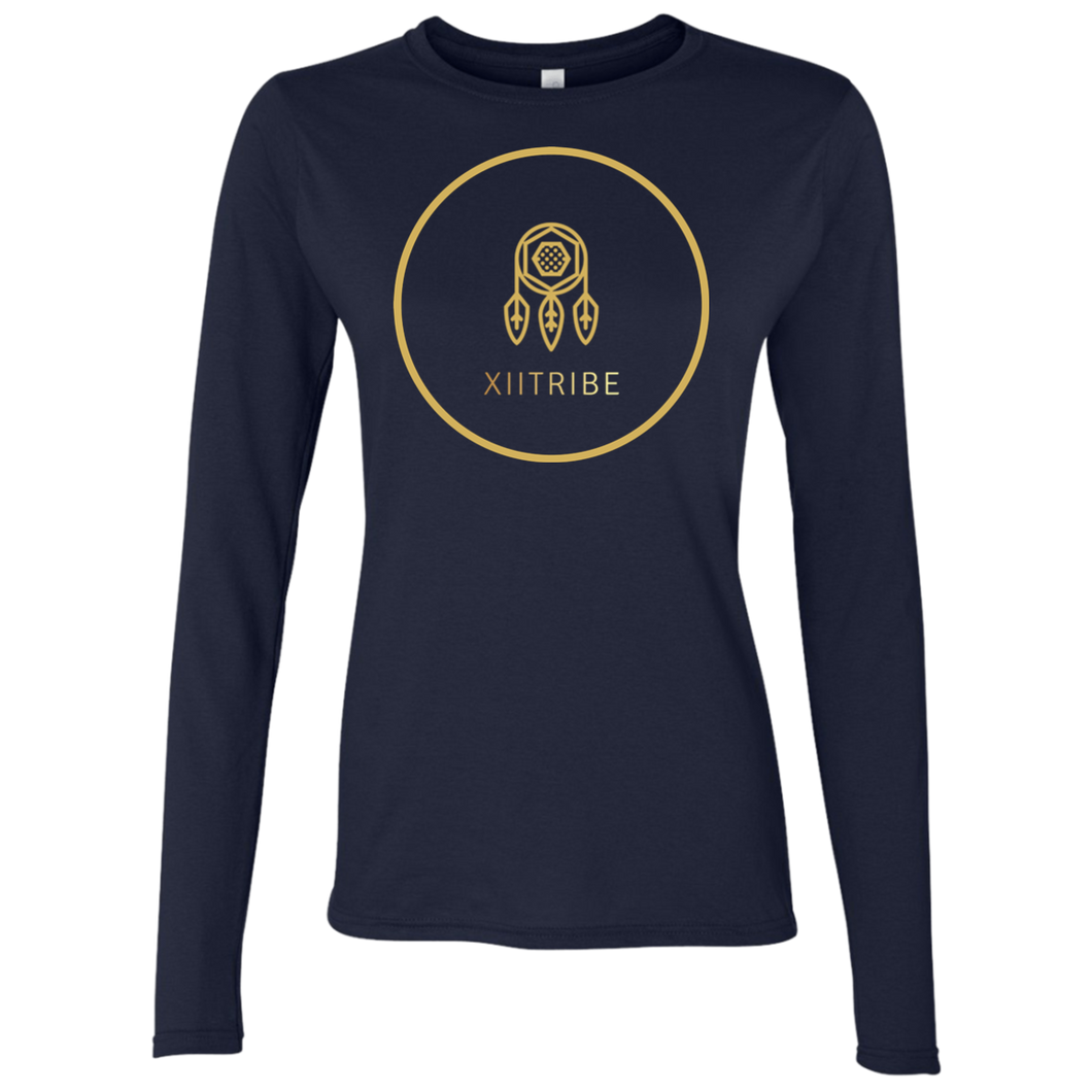 Navy Blue XIItribe Ladies LS T-Shirt
