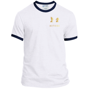 White/Navy XIITribe Ringer Tee