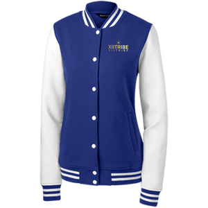 XIITribe Women's Fleece Letterman Jacket