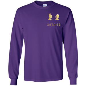Purple XIITribe Boy's LS T-Shirt