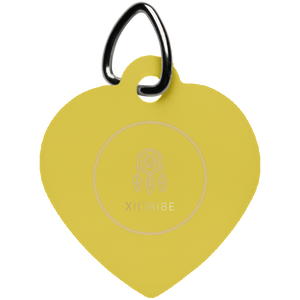 Orange XIItribe Heart Pet Tag