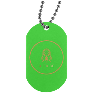 Brown XIItribe Silver Dog Tag
