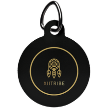 Purple XIItribe Circle Pet Tag
