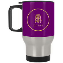 Maroon XIITribe Silver Stainless Travel Mug