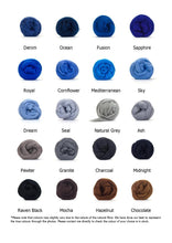 "Load image into Gallery viewer, 30"" Merino Round Rug - Classic Colours - No Needles Needed Chunky Knits"