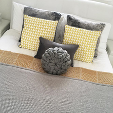 Load image into Gallery viewer, Single Merino Cushion - Classic Colours - No Needles Needed Chunky Knits