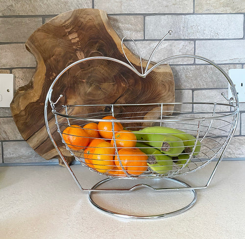 Apple Fruit Basket - No Needles Needed Chunky Knits