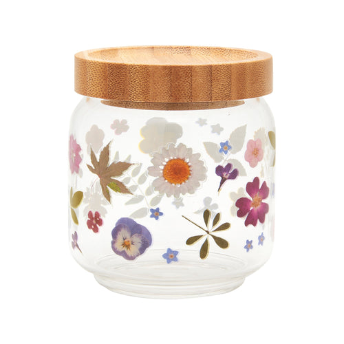 Small Floral Storage Jar - No Needles Needed Chunky Knits