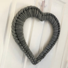 Load image into Gallery viewer, Merino Extra Large Chunky Knit Heart - No Needles Needed Chunky Knits