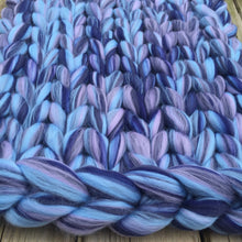 Large Merino Wool Blanket - Colour Pop Blends - Stockinette - No Needles Needed Chunky Knits
