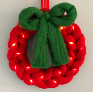 Christmas Wreath - Design it yourself! - No Needles Needed Chunky Knits
