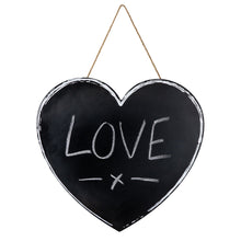 Load image into Gallery viewer, Heart Shaped Chalkboard - No Needles Needed Chunky Knits