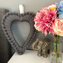 Merino Chunky Knit Heart Wreath