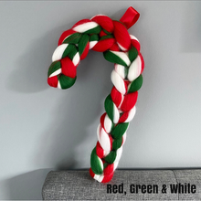 Candy Cane Wreath - No Needles Needed Chunky Knits