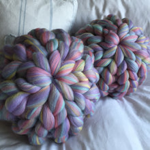 Set of 2 Merino Cushions - Colour Pop Blends - No Needles Needed Chunky Knits