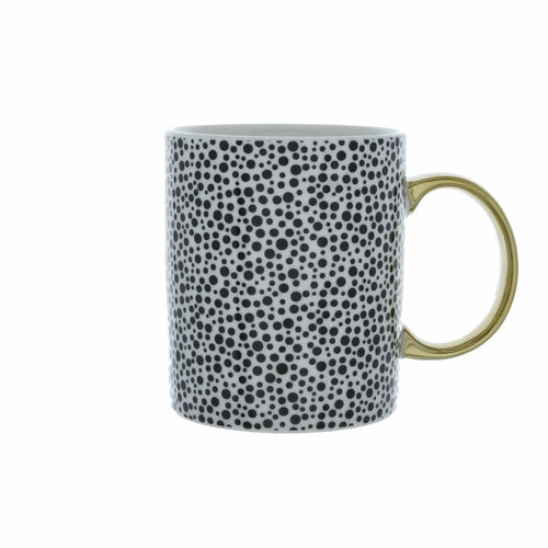 Gold Handle Dotty Mug - No Needles Needed Chunky Knits