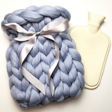 Chunky Knit Hot Water Bottle - 2 Litre Size - No Needles Needed Chunky Knits