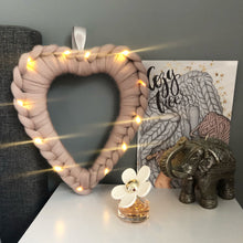 Load image into Gallery viewer, Light Up Chunky Knit Heart Wreath - No Needles Needed Chunky Knits