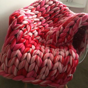 Raspberry Ripple - No Needles Needed Blend - No Needles Needed Chunky Knits