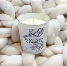 Load image into Gallery viewer, Black Plum & Rhubarb Candle - No Needles Needed Chunky Knits