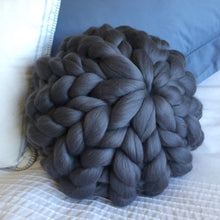 Single Merino Cushion - Classic Colours - No Needles Needed Chunky Knits