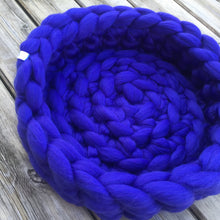 Load image into Gallery viewer, Merino Wool Cat Bed - Classic Colours - No Needles Needed Chunky Knits