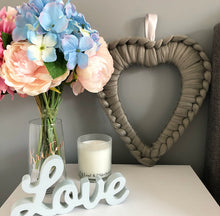 Load image into Gallery viewer, Acrylic Chunky Heart Wreath - No Needles Needed Chunky Knits