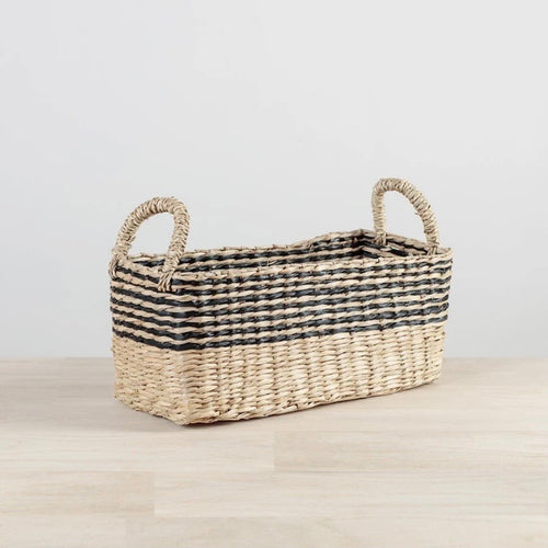 Seagrass Stripe Basket - No Needles Needed Chunky Knits