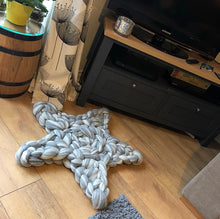 Load image into Gallery viewer, Star Rug/Cushion/Mat - Colour Pop Blends - No Needles Needed Chunky Knits