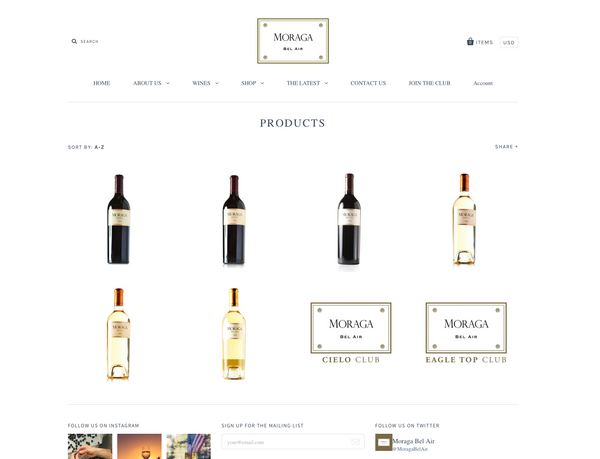 Moraga Bel Air Announces New Online Shopping on Their Updated Website and the Release of Their Current Red and White Wines