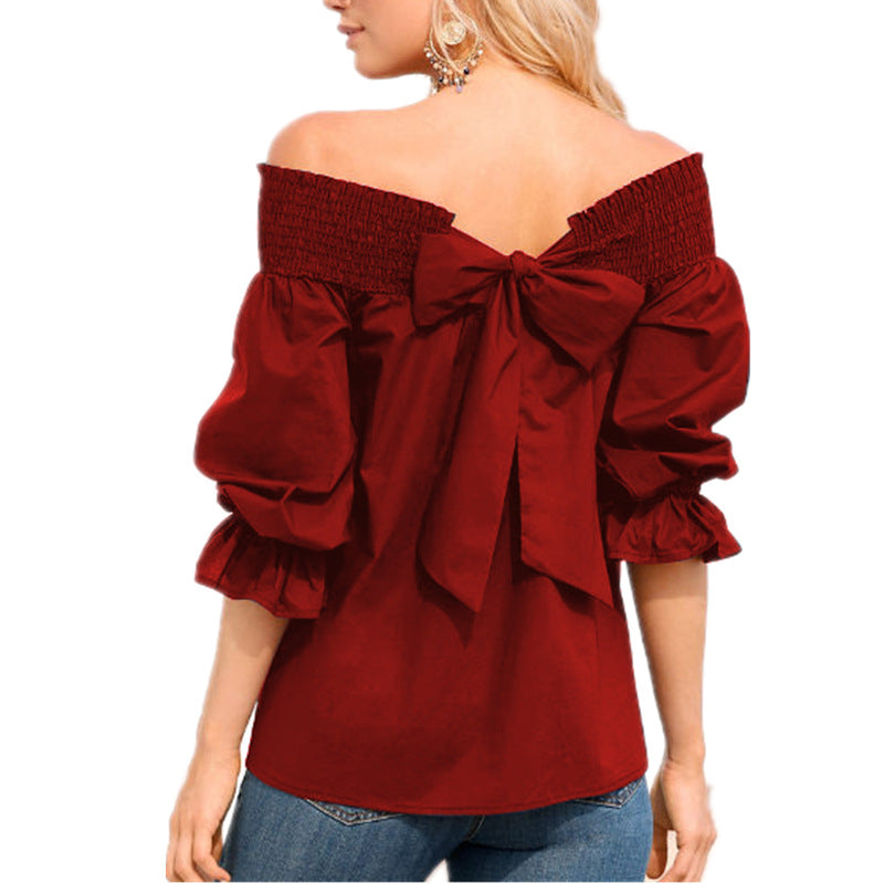 Sexy Off Shoulder Spring Summer Strapless Womens Plus Size Blouse
