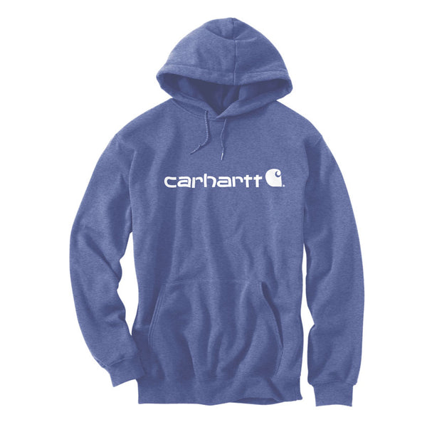 Signature Logo Midweight Hoodie Dusk Blue Heather