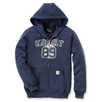 Graphic 89 Zip Hooded Sweatshirt Navy