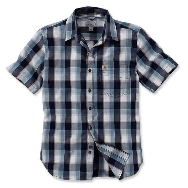 SLIM FIT PLAID SHIRT SHORT SLEEVE Navy