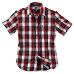 SLIM FIT PLAID SHIRT SHORT SLEEVE Dark Crimson