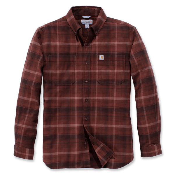 HAMILTON PLAID LONG-SLEEVE FLANNEL SHIRT Cedar