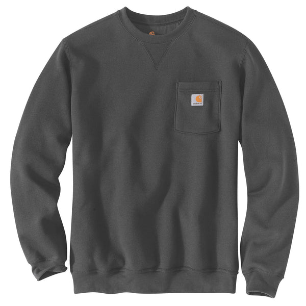 CREWNECK POCKET SWEATSHIRT Carbon Heather